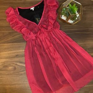 Chiffon Ruffle Dress